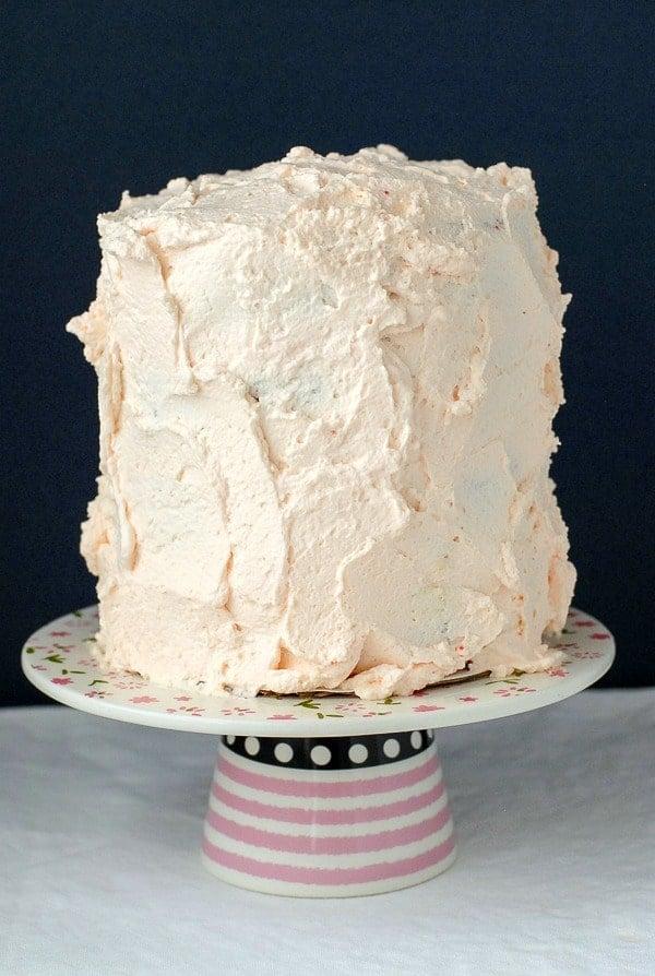 Gluten-Free Rose Cake with Pistachio Cream filling - BoulderLocavore.com