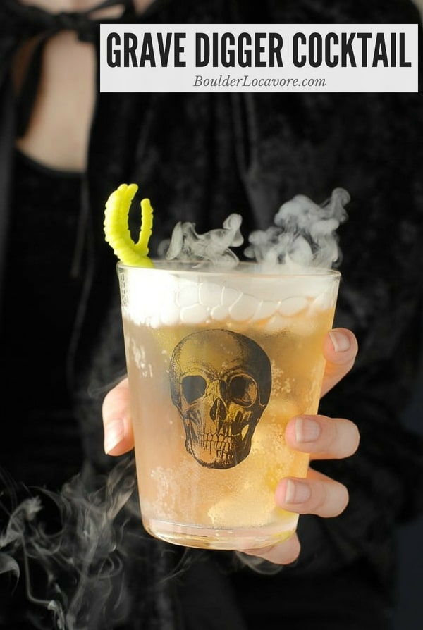 Grave Digger Cocktail in skull glass