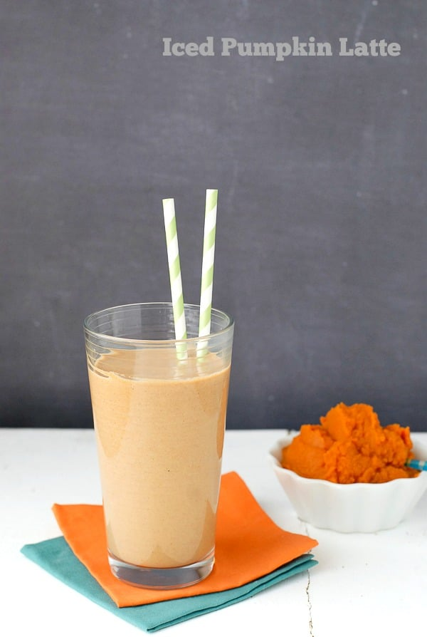 Iced Pumpkin Latte {recipe} and Vitamix S30 Personal Blender {giveaway}