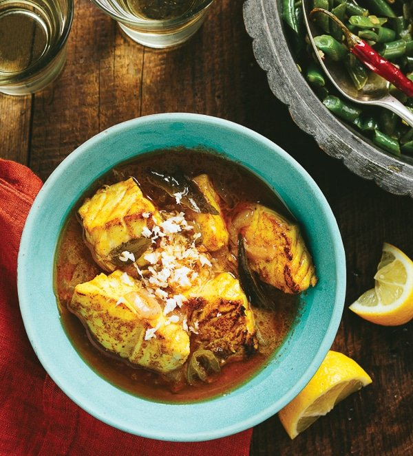 Kerala Fish Curry {meen moili} and The New Indian Slow Cooker Cookbook