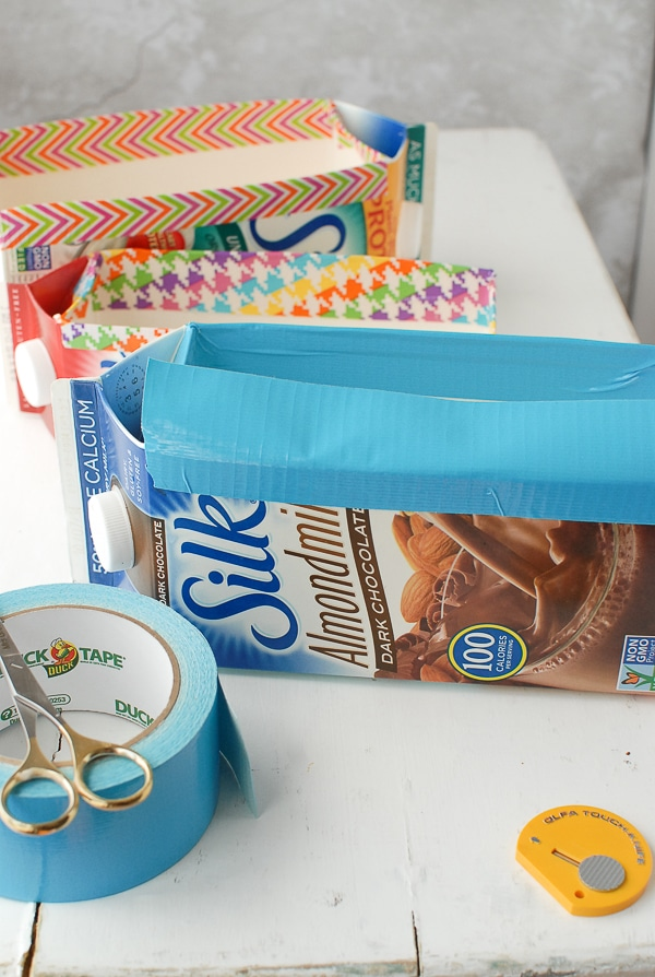 Milk Carton Herb Gardens - preparing cartons - BoulderLocavore.com