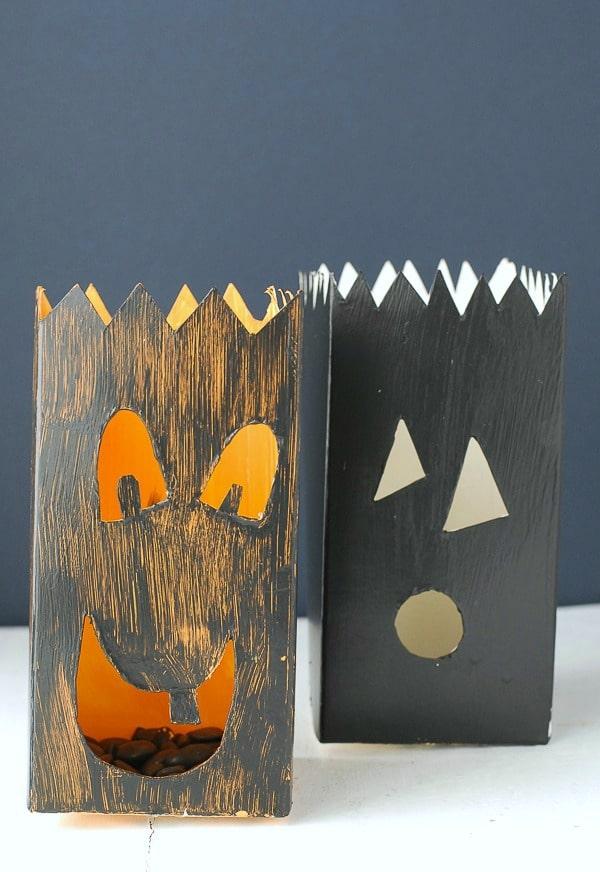 Milk Carton Jack-o-Lantern Luminarias DIY - BoulderLocavore.com