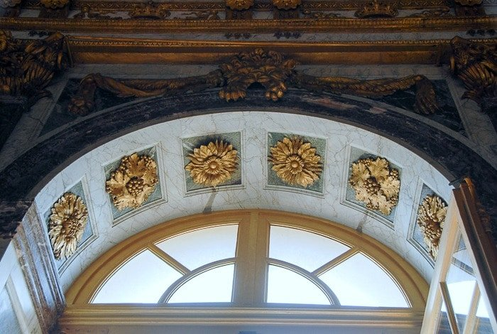 Palace of Versailles Hall of Mirrors window arch ornamentation - BoulderLocavore.com