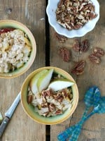 Pear-Ginger Oatmeal with Candied Maple Pecans - BoulderLocavore.com