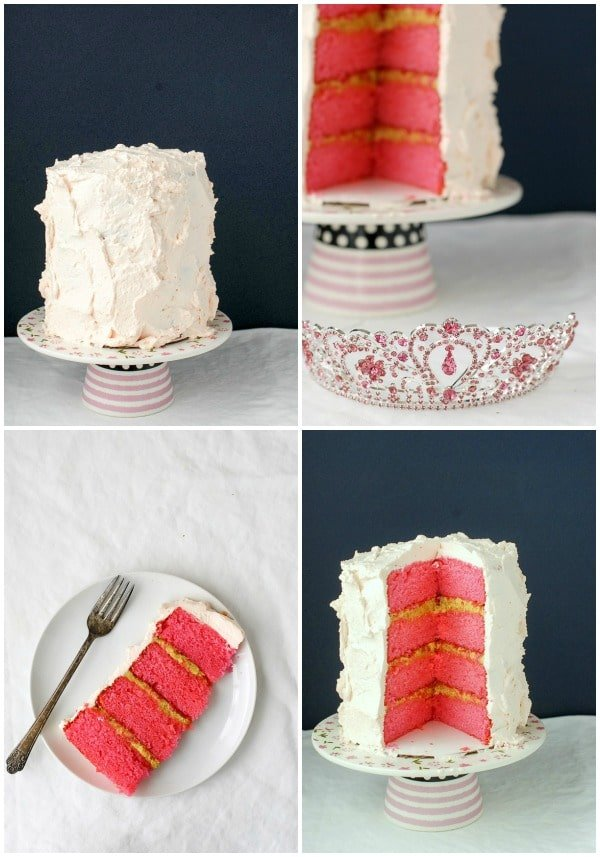 Rose-flavored Cake with Pistachio Filling Collage