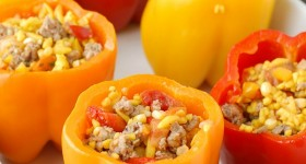 Sausage and Orzo Stuffed Sweet Peppers - BoulderLocavore.com