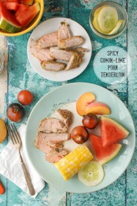 Spicy Cumin-Lime Pork Tenderloin