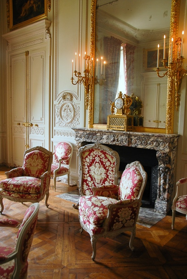 The Grand Trianon Versailles red room