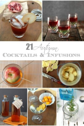 collage of autumn cocktails