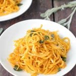 Butternut Squash Noodles in Sage Brown Butter