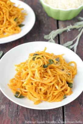 Butternut Squash Noodles in Sage Brown Butter