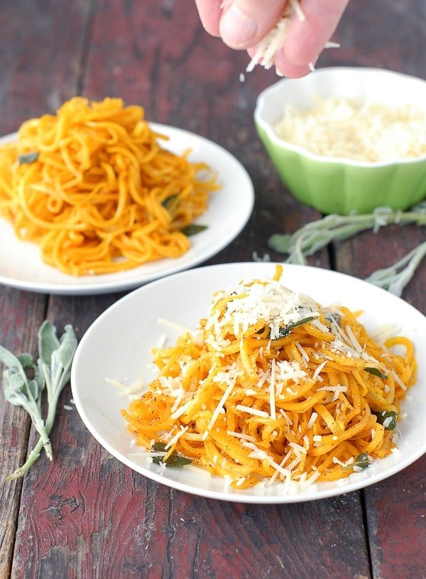 Butternut Squash Noodles in Sage Brown Butter with Parmesan cheese - BoulderLocavore.com