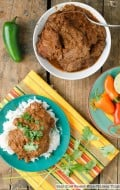 Easy Slow Cooker Mole Chicken Thighs - BoulderLocavore.com