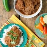 Easy Slow Cooker Mole Chicken Thighs