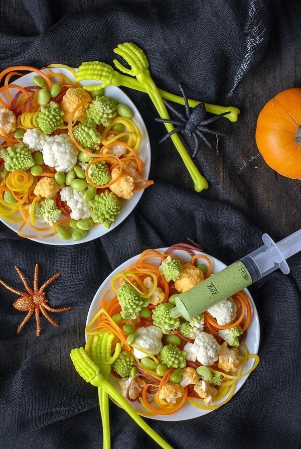 Freaky Healthy Halloween Salad