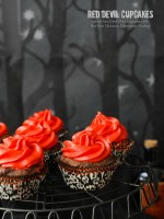 Gluten-Free Red Devil Cupcakes {Devil's Food cupcakes with Red Hots Cinnamon Buttercream Frosting} - BoulderLocavore.com