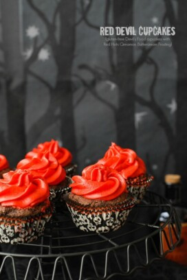 Red Devil Cupcakes {Devil's Food cupcakes with Red Hots Cinnamon Buttercream Frosting}