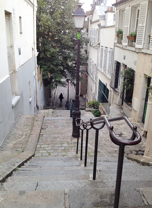 Montmartre staircase Paris - BoulderLocavore.com