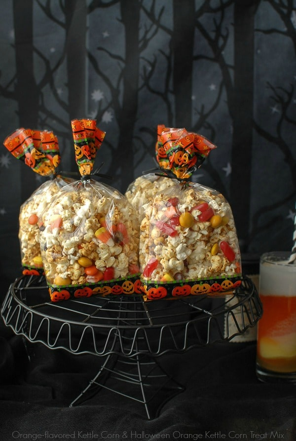 Orange-flavored Kettle Corn Halloween Treat Mix - BoulderLocavore.com