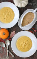 Pumpkin Polenta with Bacon-Maple Gravy