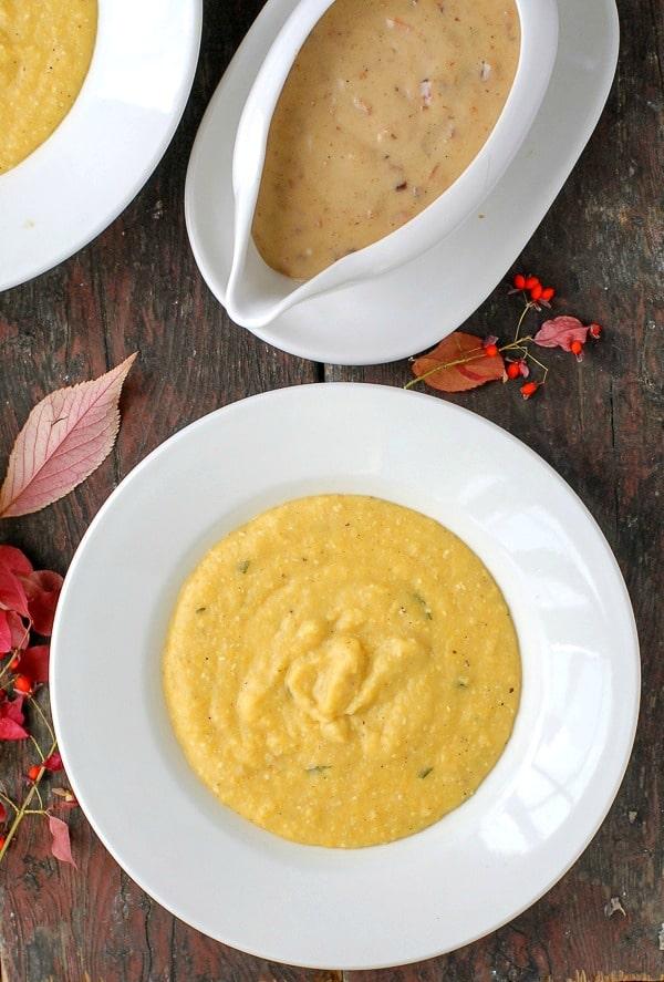 Pumpkin Polenta with Bacon-Maple Gravy - BoulderLocavore.com