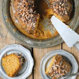Pumpkin Spice Buttermilk Bundt Cake with Dark Salted Caramel Glaze - BoulderLocavore.com