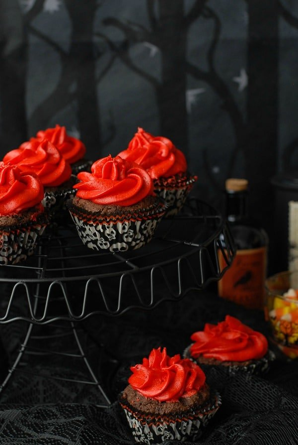 Gluten Free Red Devil Cupcakes: Devil's Food Cupcakes with Red Hots Cinnamon Buttercream Frosting | BoulderLocavore.com