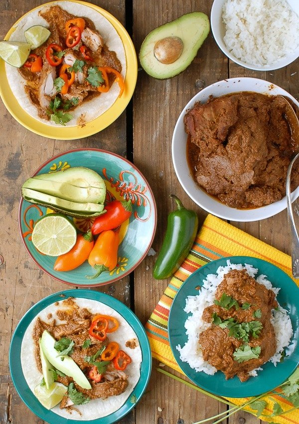 Slow Cooker Mole Chicken Thighs - BoulderLocavore.com