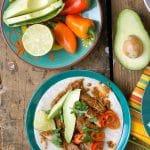 Slow Cooker Mole Chicken Thighs taco - BoulderLocavore.com