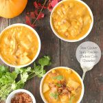 Slow Cooker Spicy Pumpkin Chicken Corn Chowder