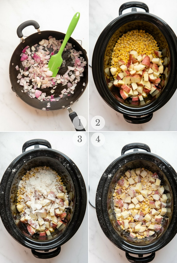 Steps to make Spicy Pumpkin Chicken Corn Chowder (4 steps)