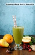 Cranberry Pear Ginger Smoothie