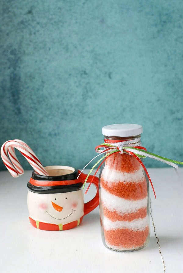 DIY Homemade Candy Cane Peppermint Bath Salts - BoulderLocavore.com