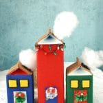 DIY Milk Carton Holiday Houses