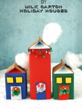DIY Milk Carton Holiday Houses. A fun holiday crafting project great for all ages! BoulderLocavore.com