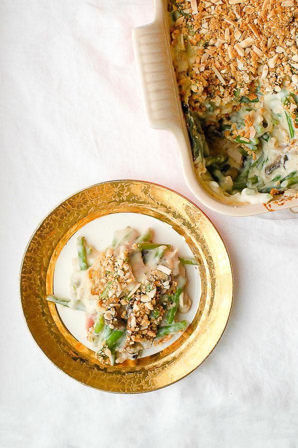 French Green Bean casserole serving