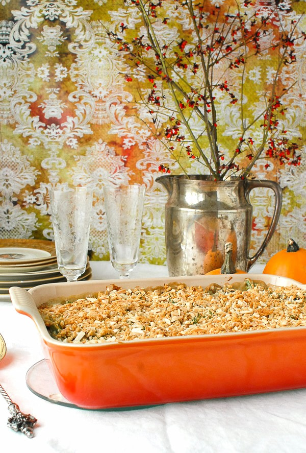 Haricot Vert and Mushroom Casserole with Gruyere Cheese and Lardon Thanksgiving - BoulderLocavore.com