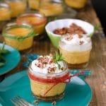 Mini Pumpkin Pie Cheesecakes in Mason Jars