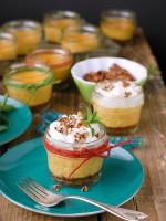 Mini Pumpkin Pie Cheesecakes in Mason Jars BoulderLocavore.com