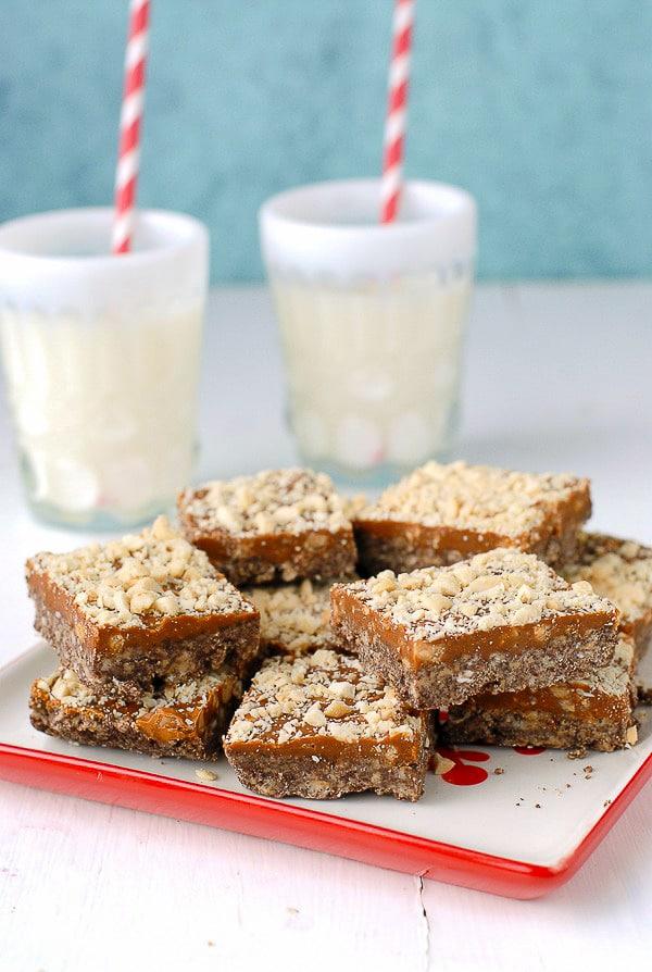 No Bake Chocolate Peanut Butter Cinnamon Squares - BoulderLocavore.com