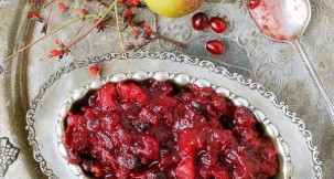 Slow Cooker Cranberry-Pear Sauce with Ginger - BoulderLocavore.com