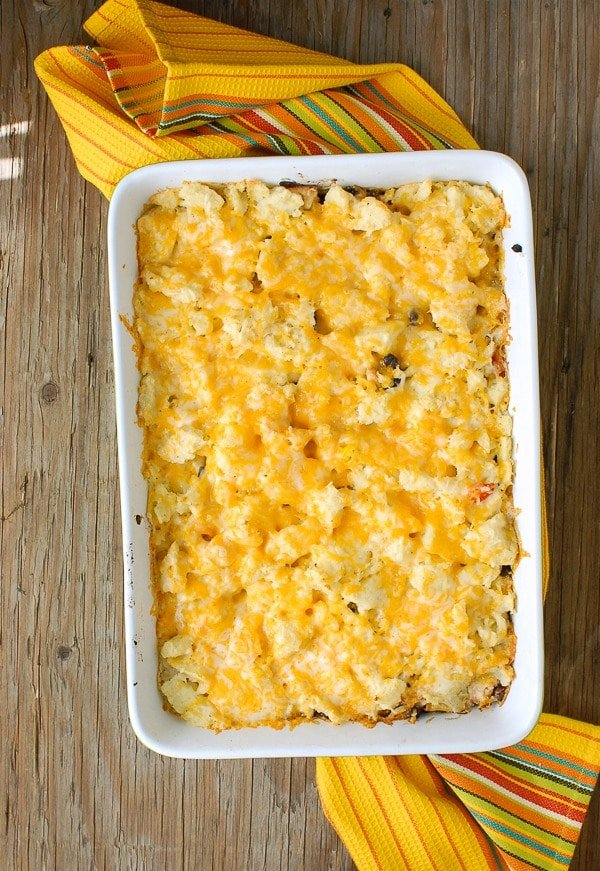 Southwestern Turkey Shepherd's Pie with cheese - BoulderLocavore.com