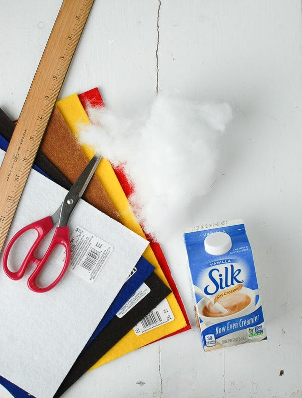 Supplies for DIY Milk Carton Holiday Houses - BoulderLocavore.com