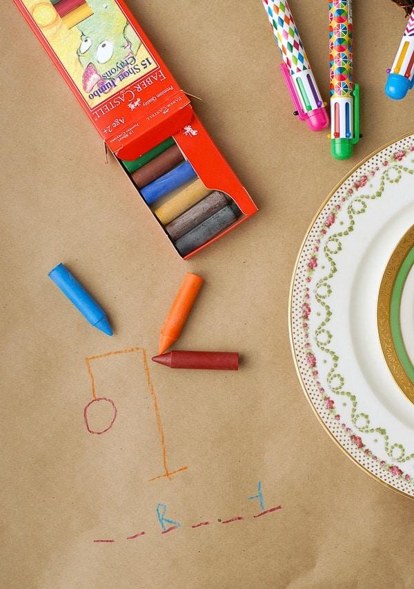 The Holiday Table- designer crayons and hangman game - BoulderLocavore.com