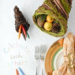 DIY Gratitude Tablecloth, Conversation Starters and More Interactive Holiday Table Ideas