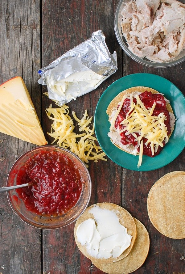 Turkey Cranberry-Chipotle with Gouda cheese Quesadillas ingredients - BoulderLocavore.com
