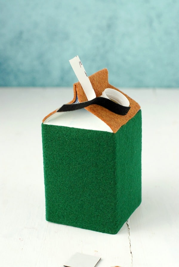 Tutorial (chimney) for DIY Milk Carton Holiday Houses - BoulderLocavore.com