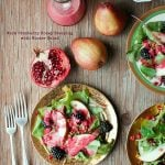 Warm Cranberry Honey Dressing with Winter Salad. A beautiful, creamy option to dress up any winter salad! - BoulderLocavore.com