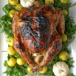 White Wine Ginger Thyme Brined Roast Turkey