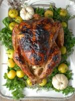 White Wine Ginger Thyme Brined Roast Turkey - BoulderLocavore.com.